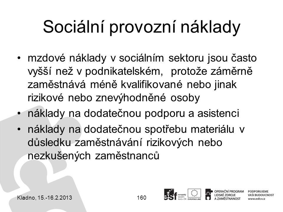Sociální provozní náklady