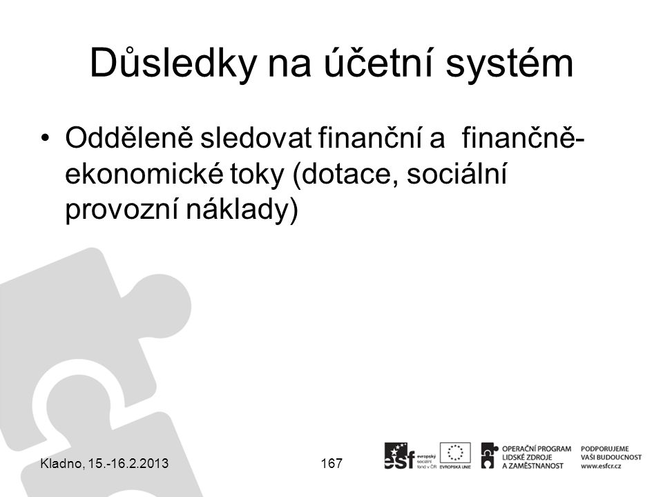 Důsledky na účetní systém