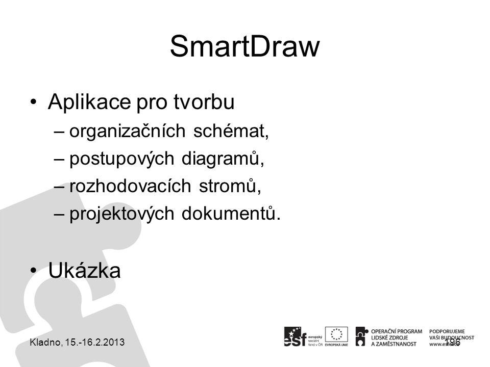 SmartDraw Aplikace pro tvorbu Ukázka organizačních schémat,