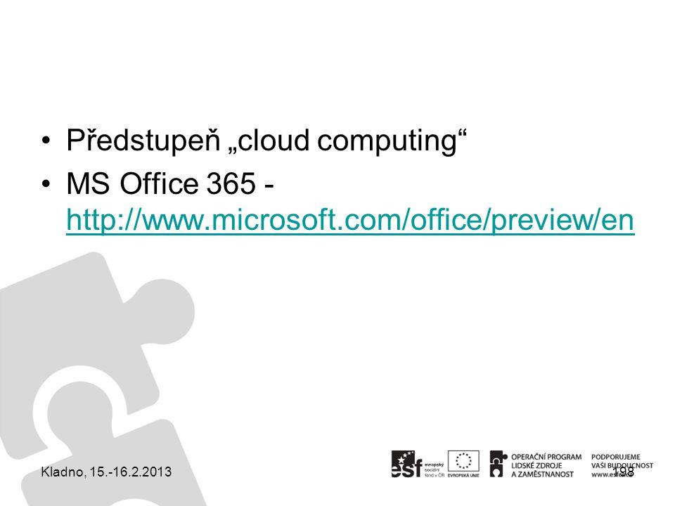 "Předstupeň ""cloud computing"
