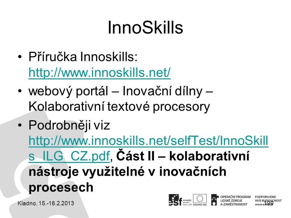 InnoSkills Příručka Innoskills: http://www.innoskills.net/