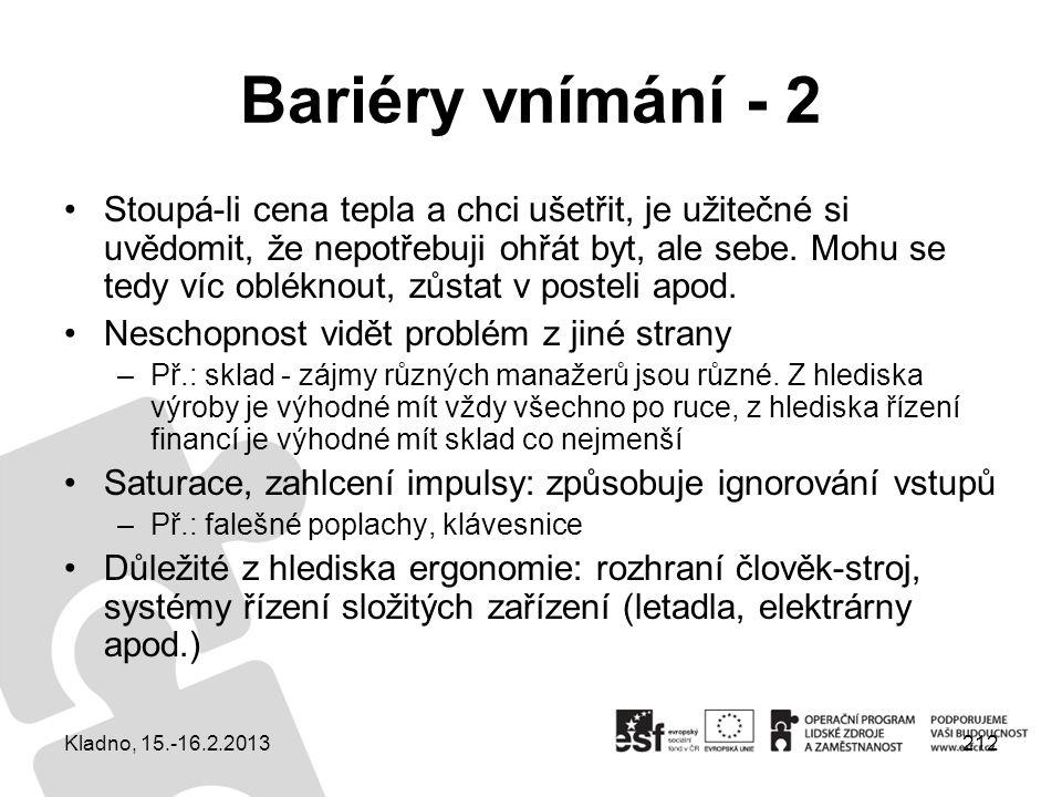 Bariéry vnímání - 2