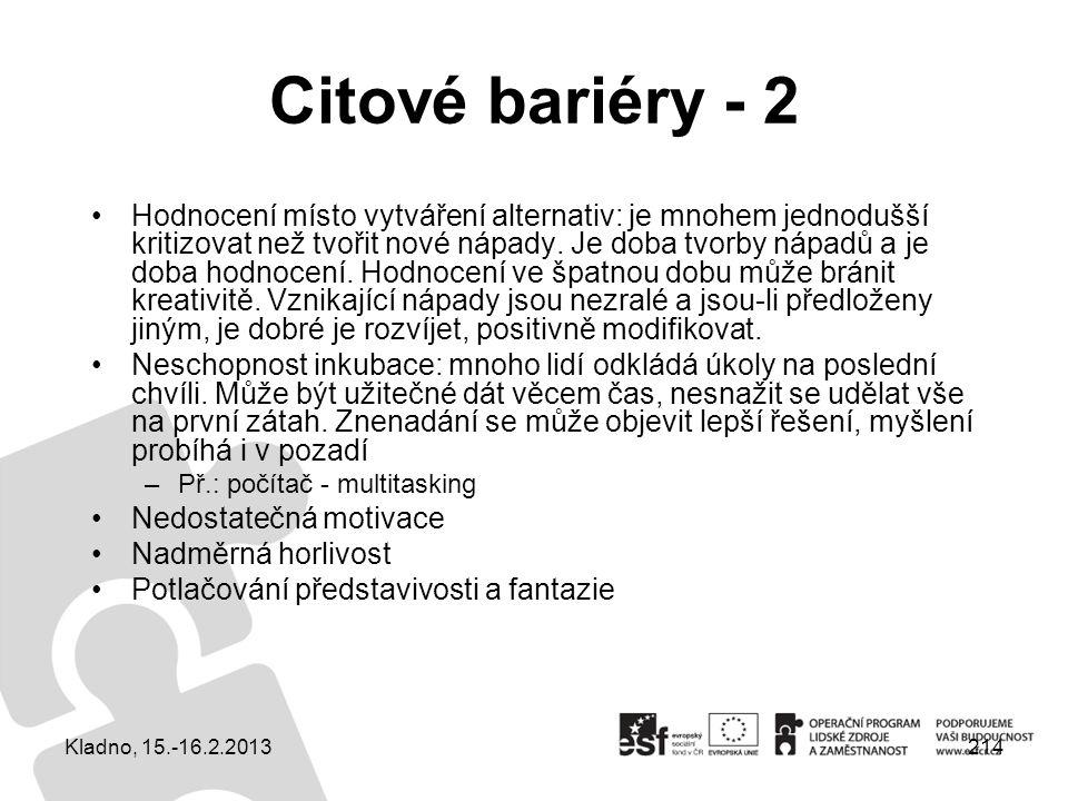 Citové bariéry - 2
