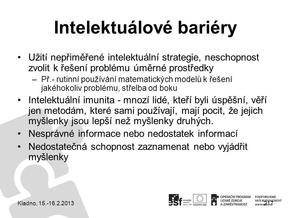 Intelektuálové bariéry
