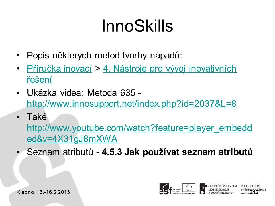 InnoSkills Popis některých metod tvorby nápadů: