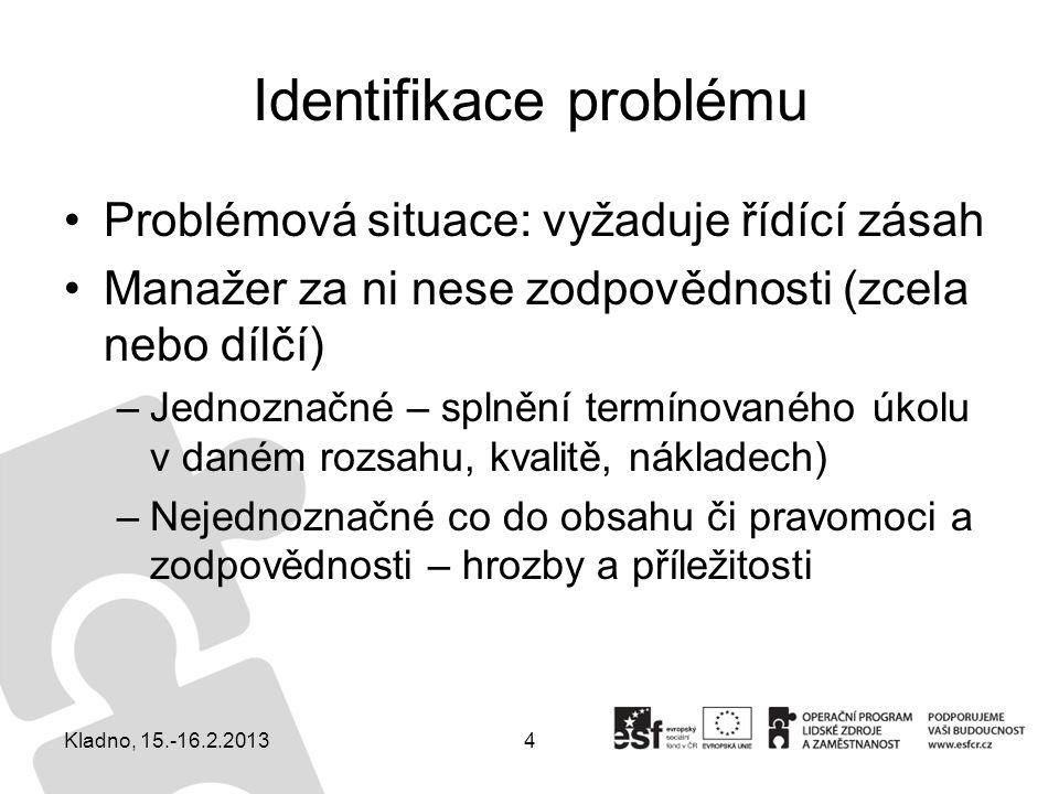 Identifikace problému