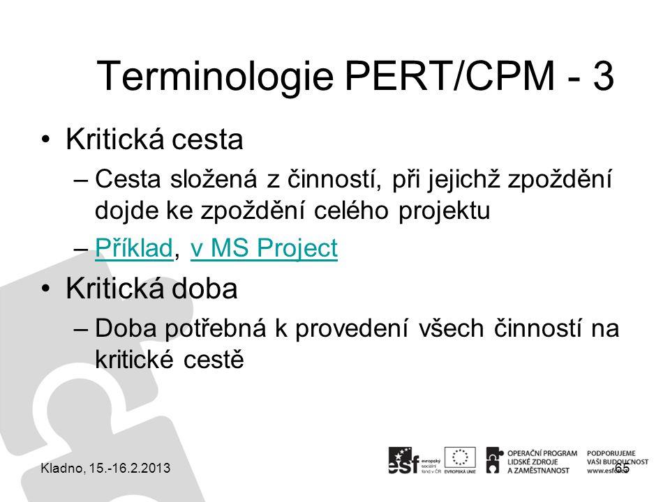 Terminologie PERT/CPM - 3