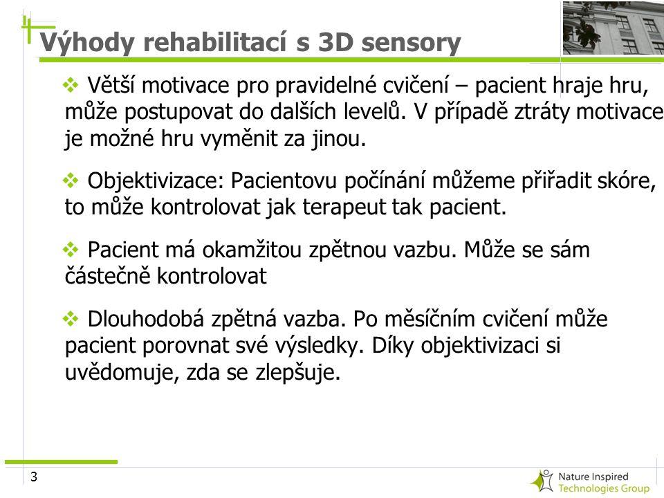 Výhody rehabilitací s 3D sensory
