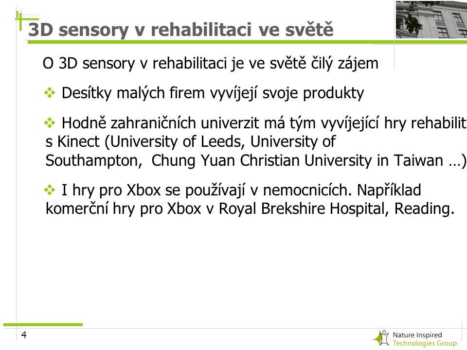 3D sensory v rehabilitaci ve světě