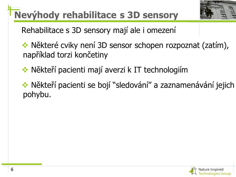 Nevýhody rehabilitace s 3D sensory