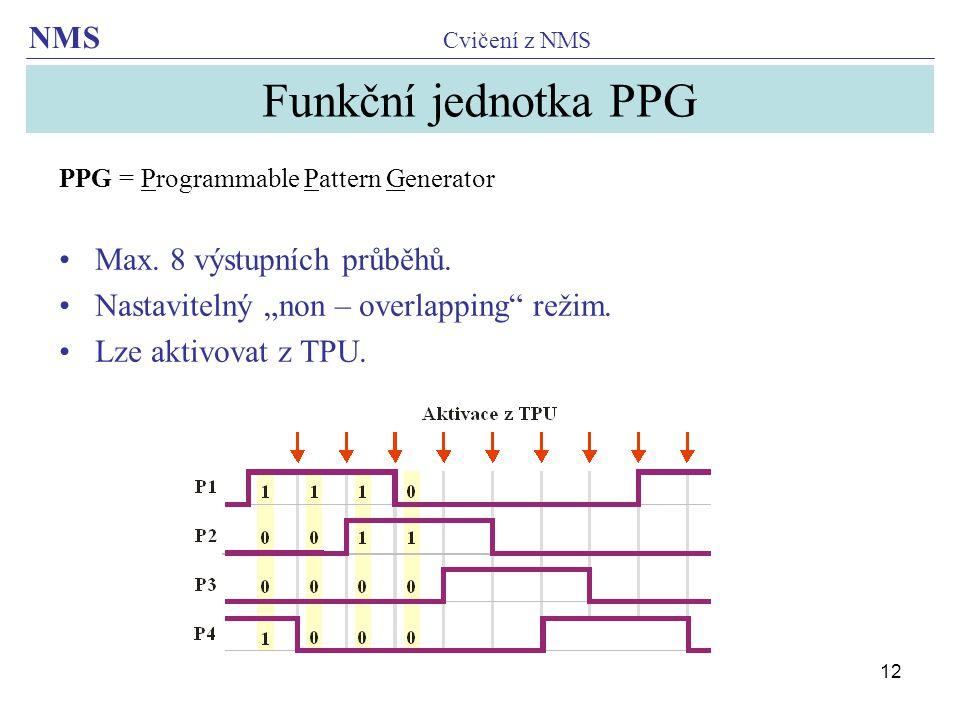 Funkční jednotka PPG Max. 8 výstupních průběhů.