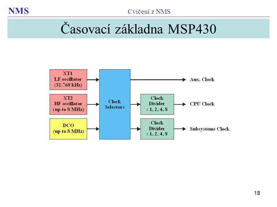 Časovací základna MSP430