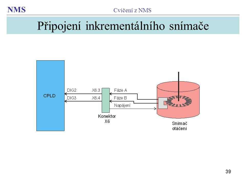 Připojení inkrementálního snímače