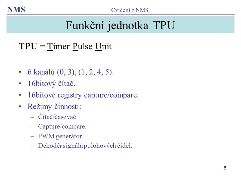 Funkční jednotka TPU TPU = Timer Pulse Unit