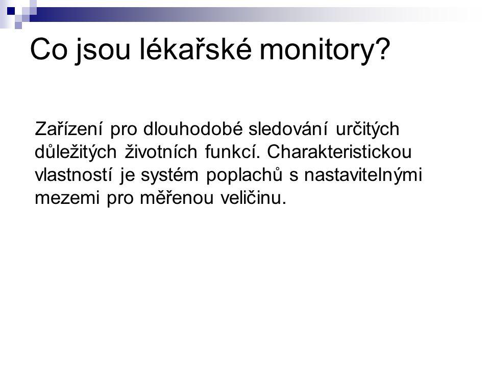 Co jsou lékařské monitory