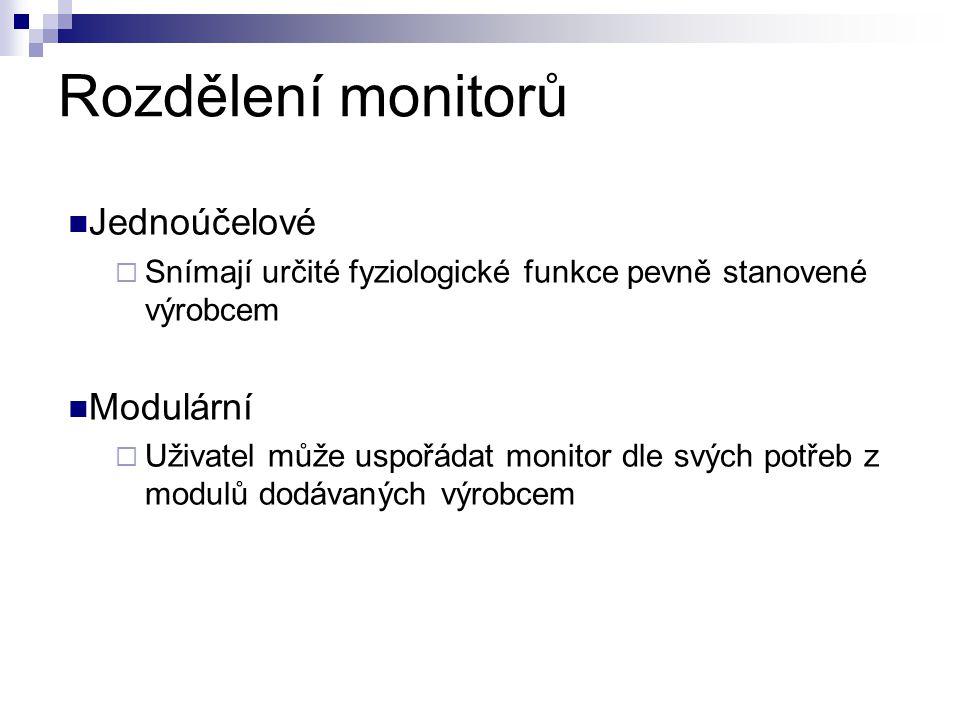 Rozdělení monitorů Jednoúčelové Modulární