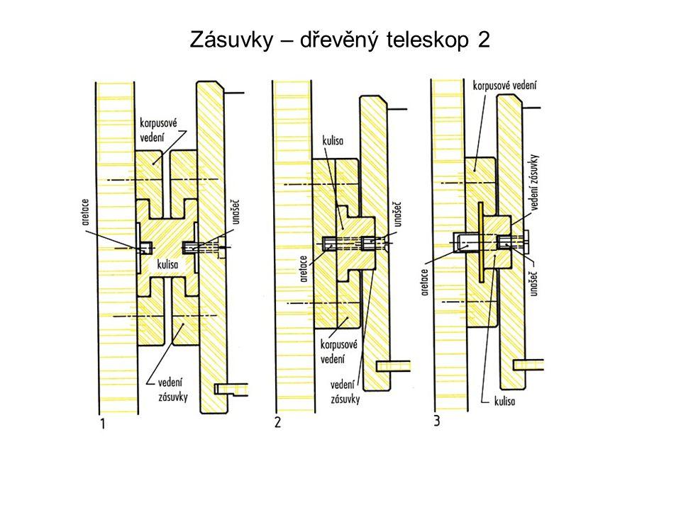 Zásuvky – dřevěný teleskop 2