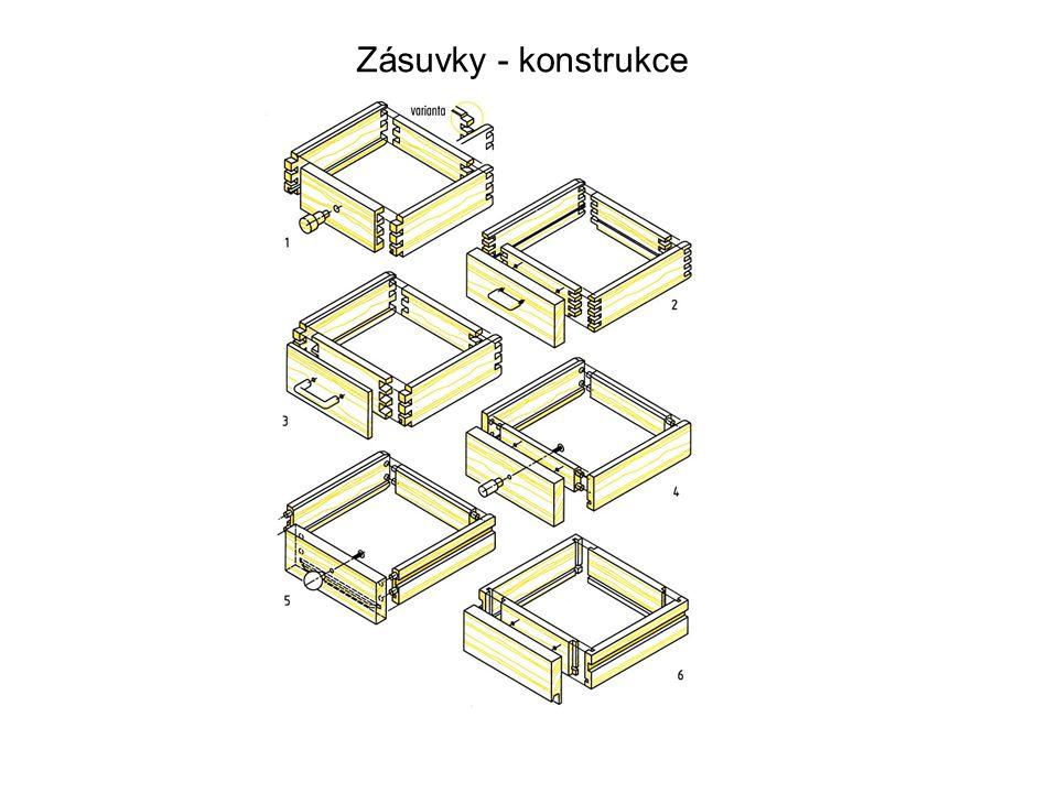 Zásuvky - konstrukce