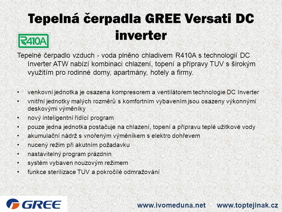 Tepelná čerpadla GREE Versati DC inverter