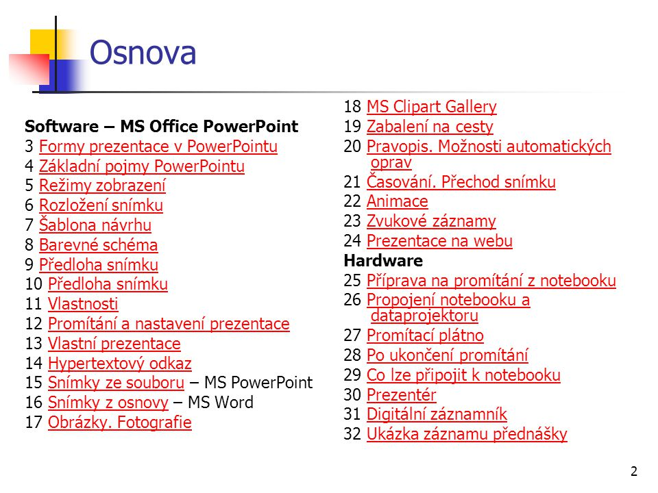 Osnova Software – MS Office PowerPoint