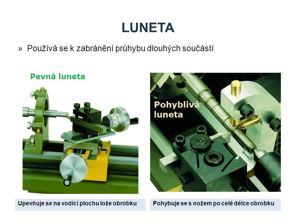 luneta Používá se k zabránění průhybu dlouhých součástí