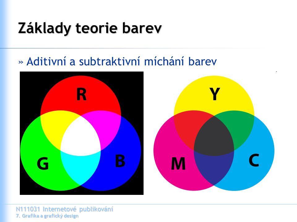 Základy teorie barev Aditivní a subtraktivní míchání barev