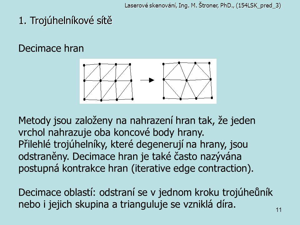 1. Trojúhelníkové sítě Decimace hran