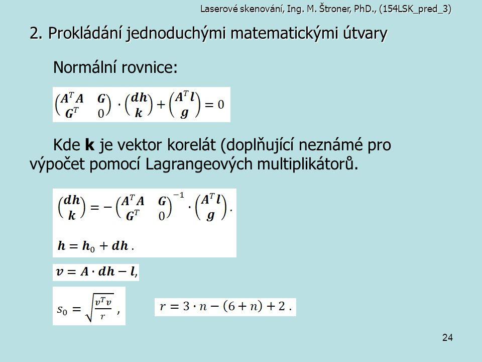 2. Prokládání jednoduchými matematickými útvary