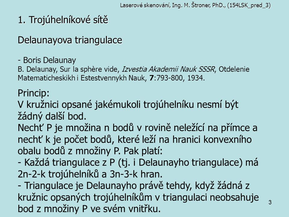 Delaunayova triangulace