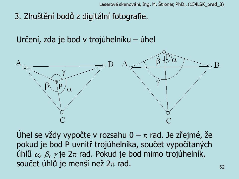 3. Zhuštění bodů z digitální fotografie.