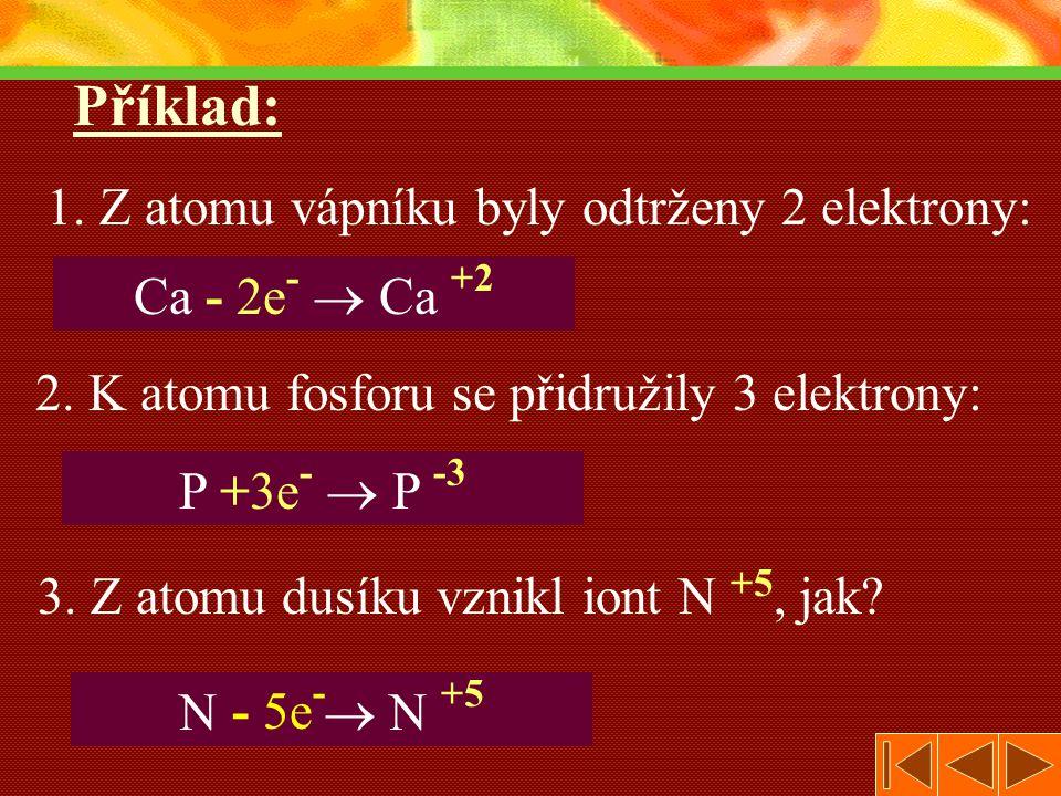 2. K atomu fosforu se přidružily 3 elektrony:
