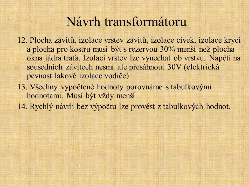Návrh transformátoru