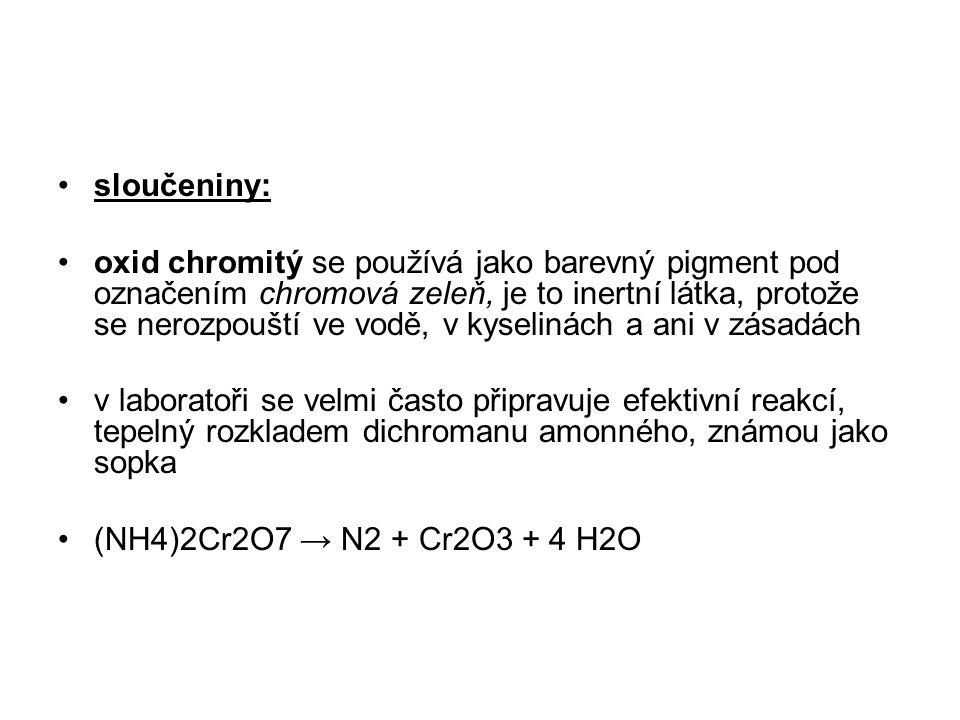 sloučeniny: