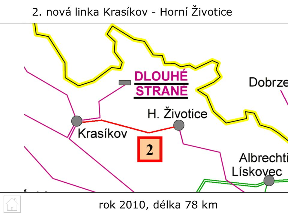 2. nová linka Krasíkov - Horní Životice