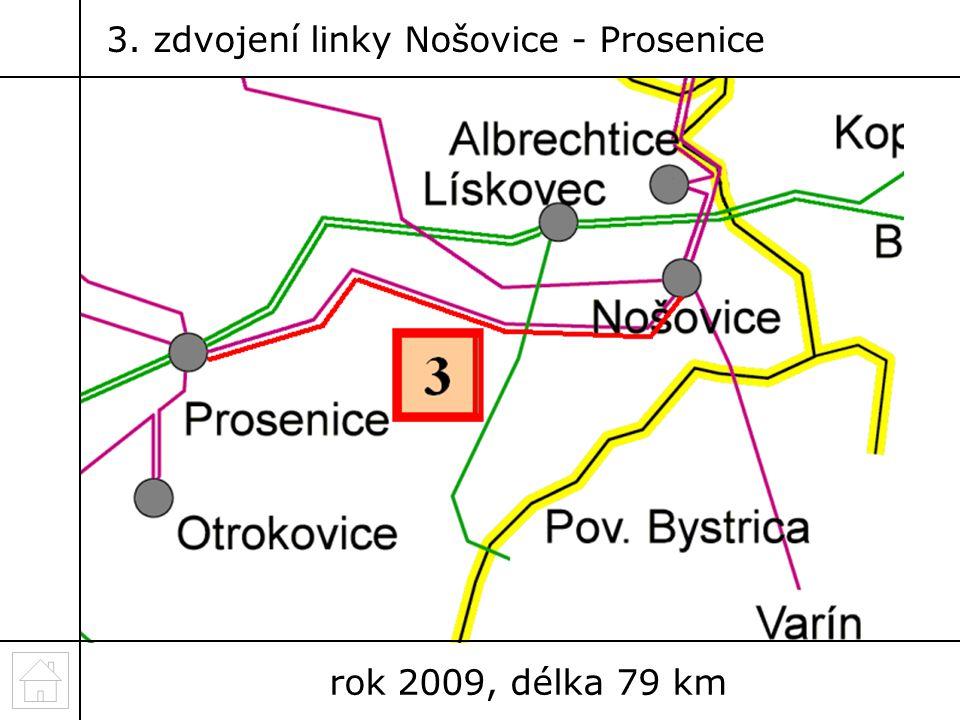 3. zdvojení linky Nošovice - Prosenice