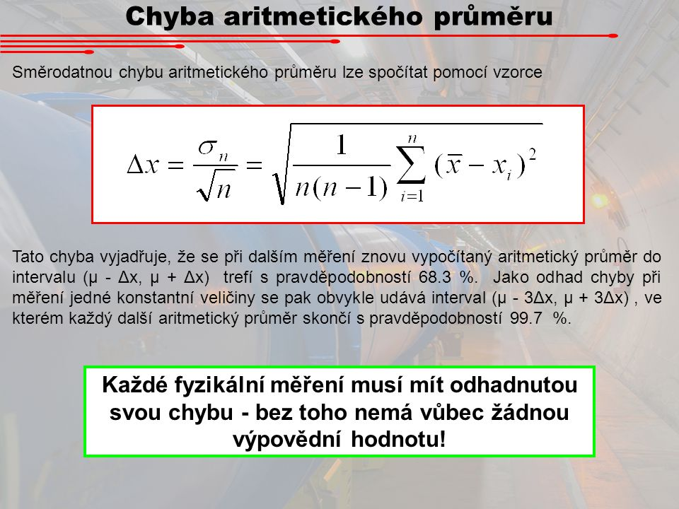 Chyba aritmetického průměru