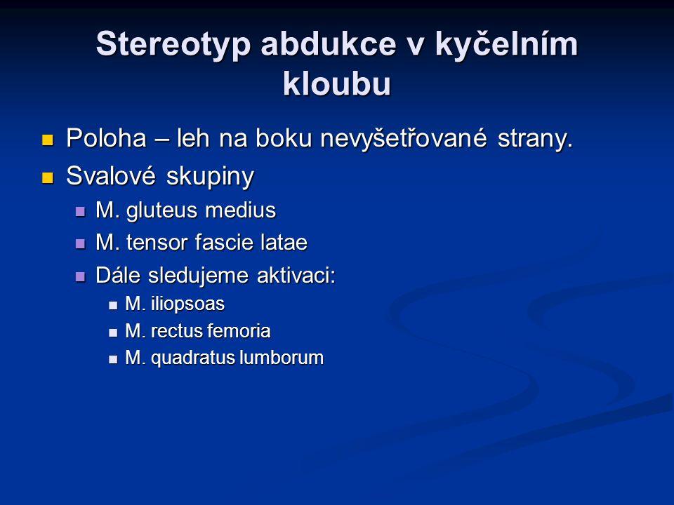 Stereotyp abdukce v kyčelním kloubu