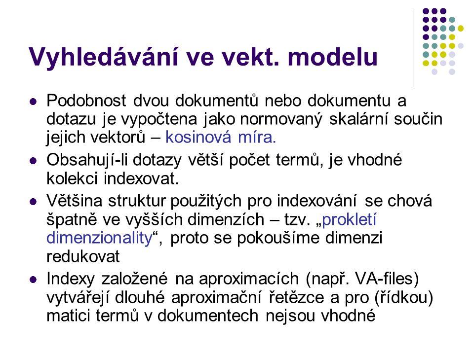 Vyhledávání ve vekt. modelu