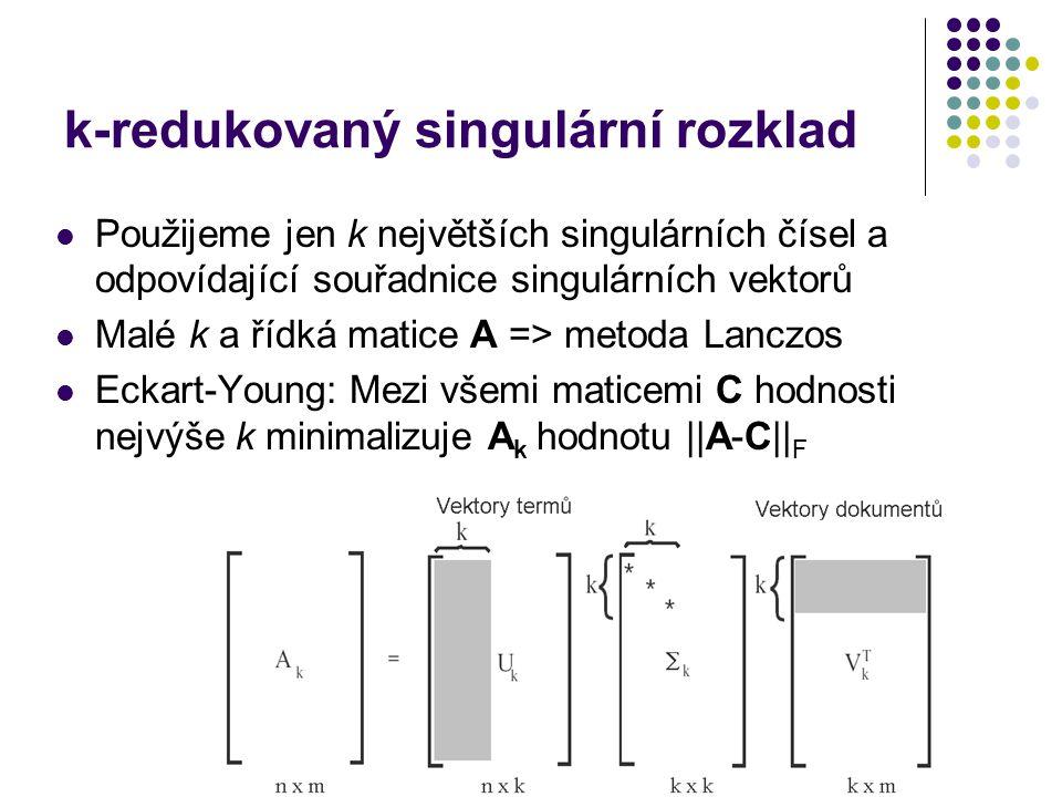 k-redukovaný singulární rozklad
