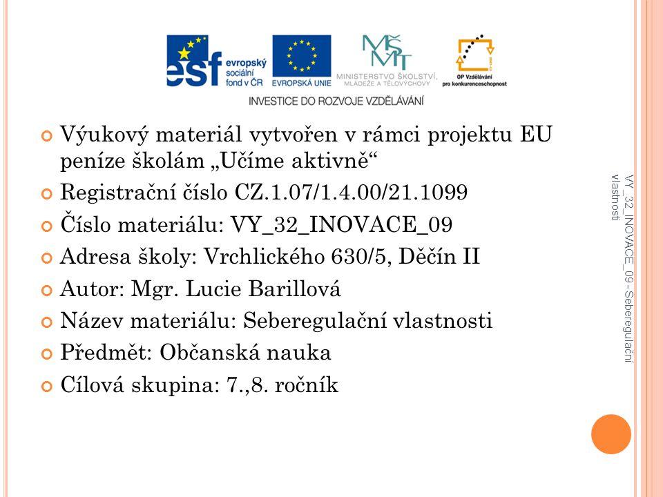 Registrační číslo CZ.1.07/1.4.00/21.1099