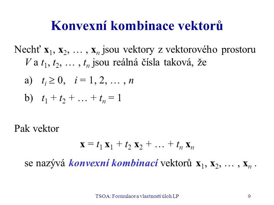 Konvexní kombinace vektorů