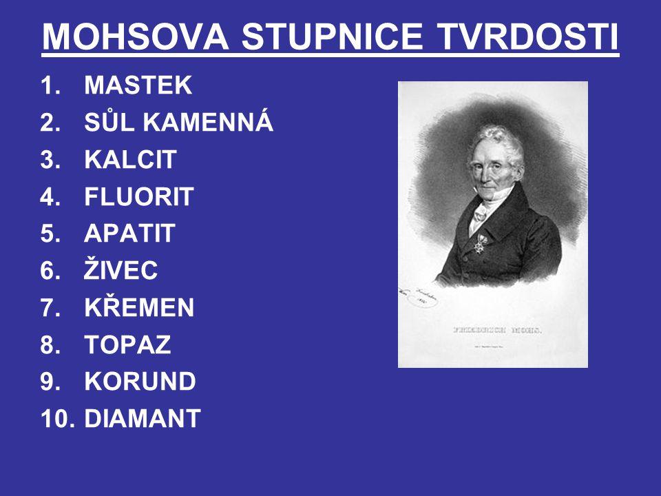MOHSOVA STUPNICE TVRDOSTI