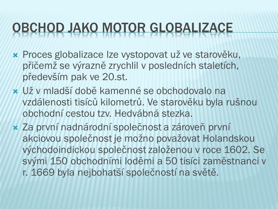 Obchod jako motor globalizace