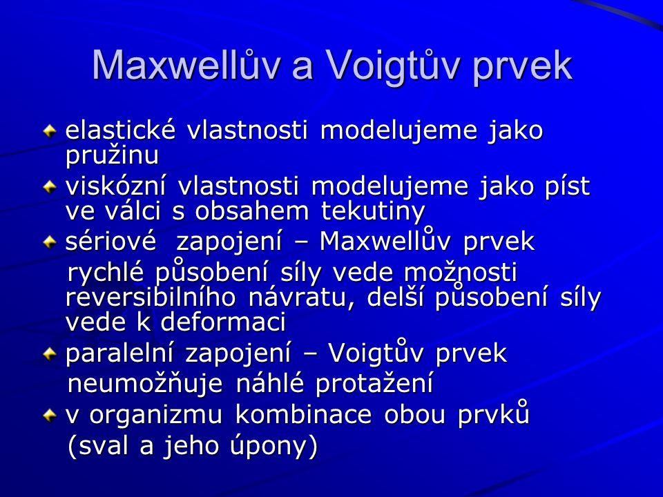 Maxwellův a Voigtův prvek