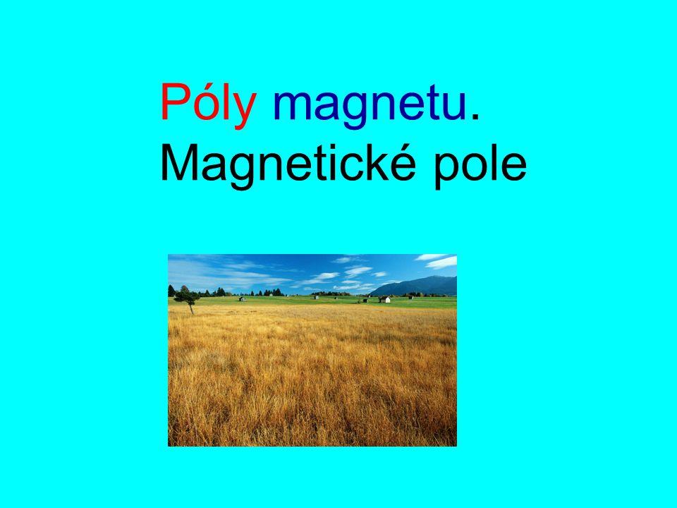 Póly magnetu. Magnetické pole