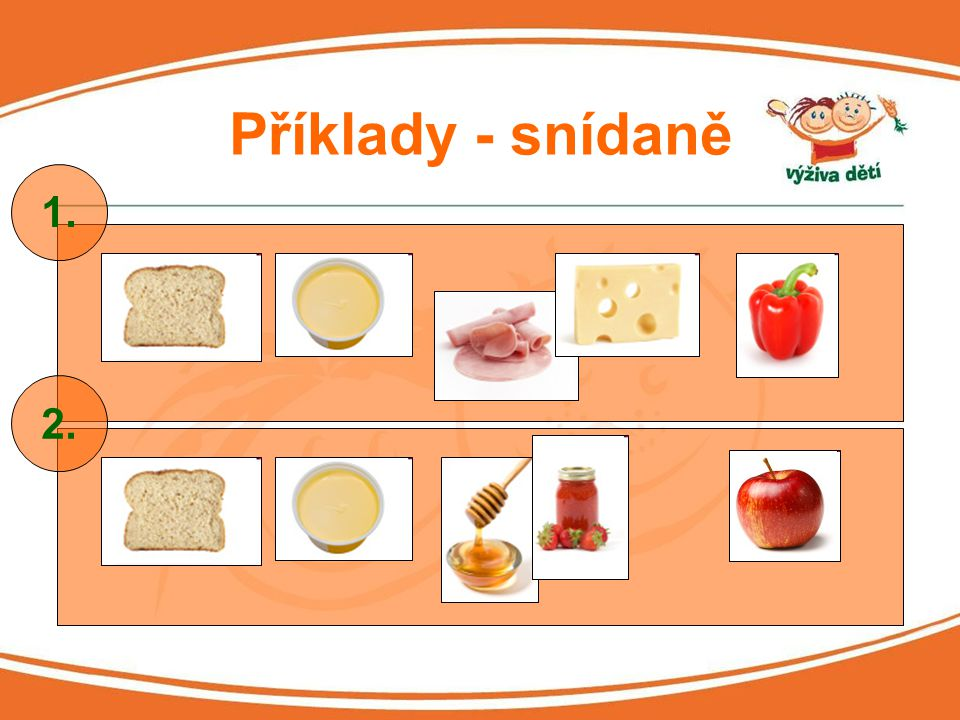 Příklady - snídaně 1. 2.
