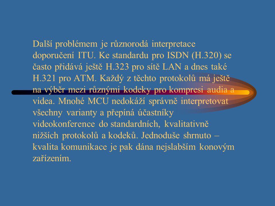 Další problémem je různorodá interpretace doporučení ITU