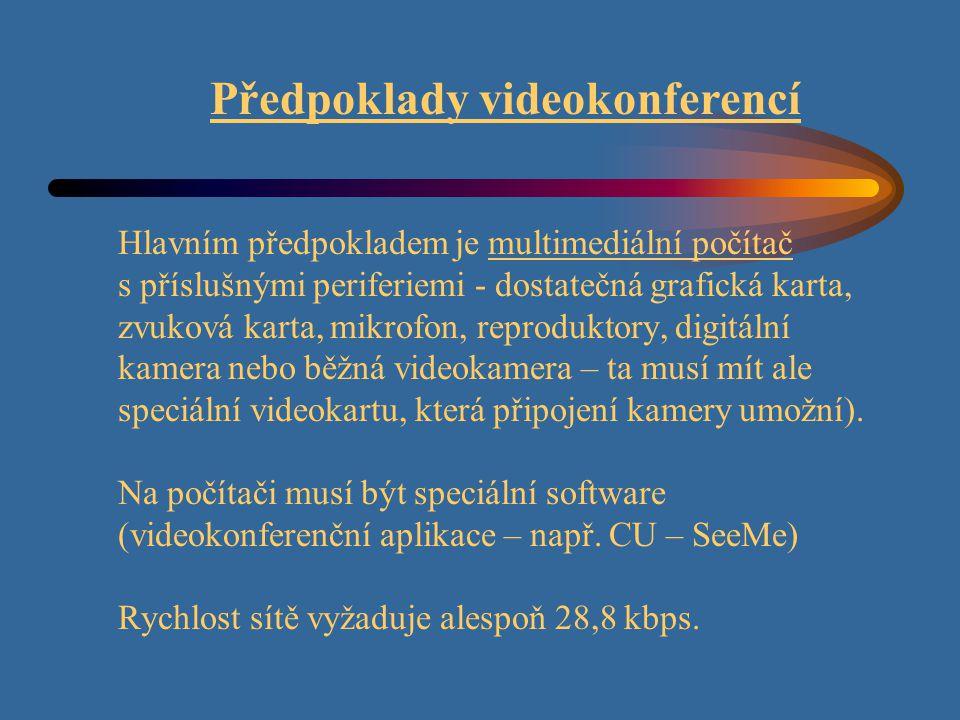 Předpoklady videokonferencí