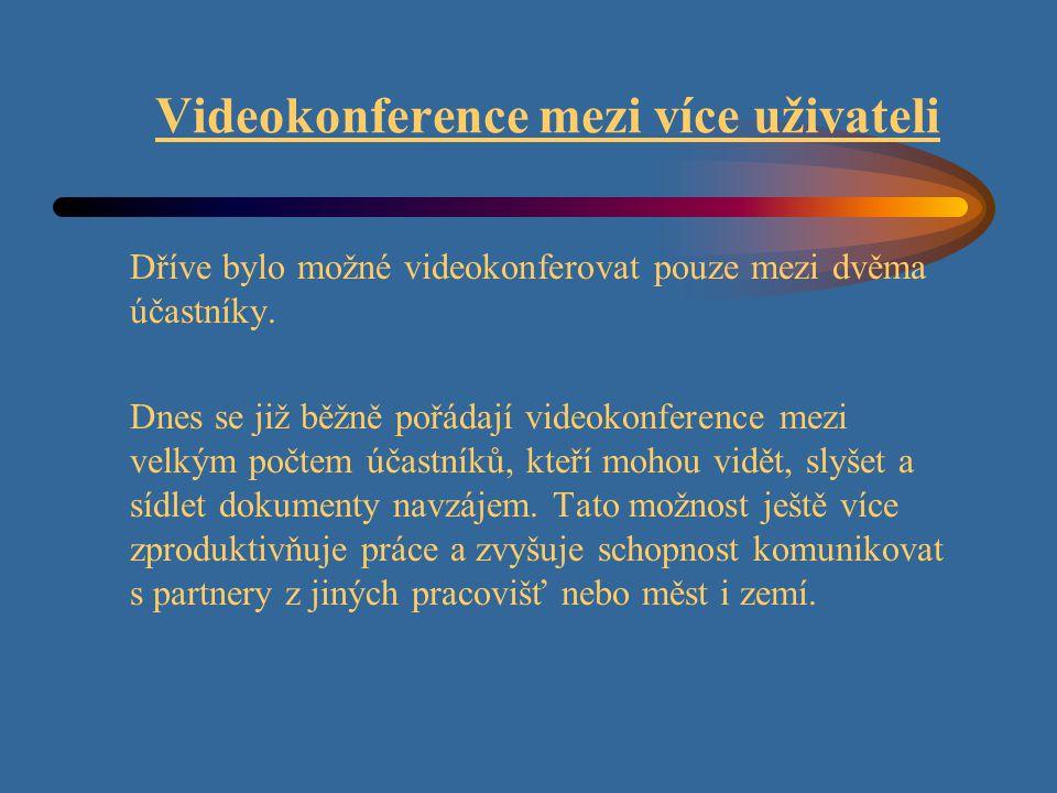 Videokonference mezi více uživateli