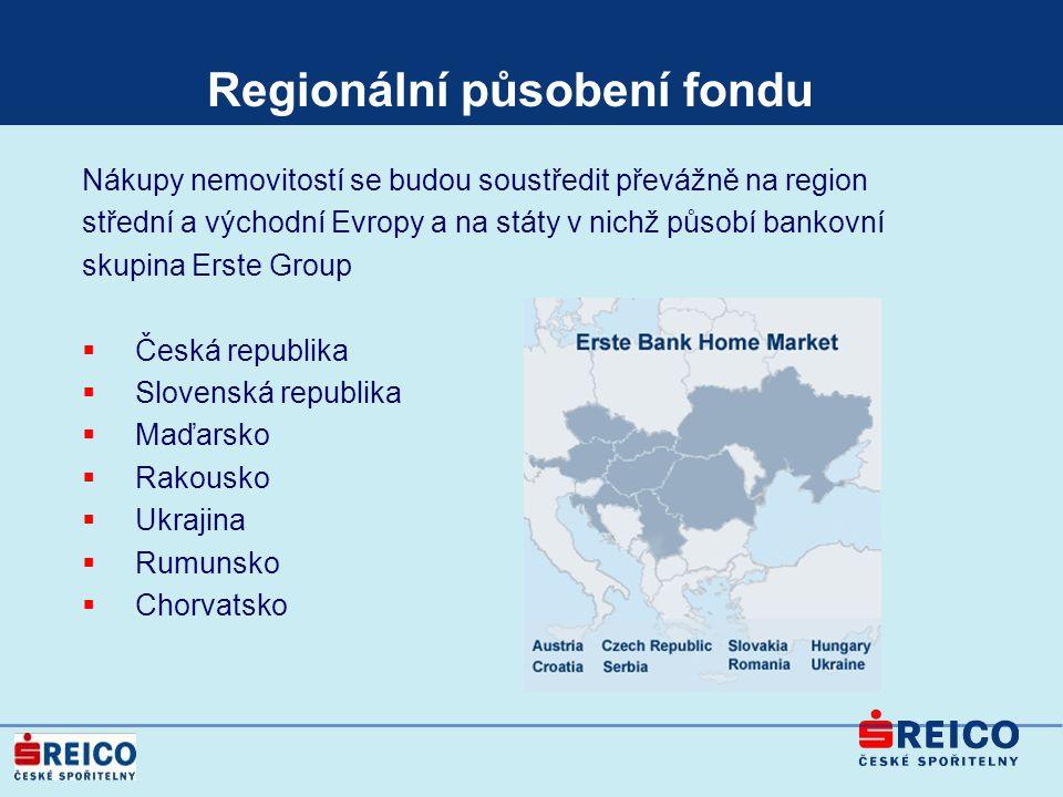 Regionální působení fondu